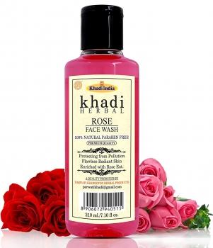 Rose Face Wash 210 Ml-Khadi