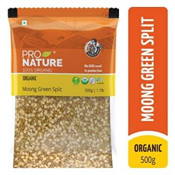 Moong Green Split 500 Gms - Pro Nature