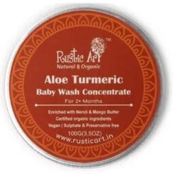 Aloe Turmeric Baby Wash Concentrate 100 Gms - Rustic Art