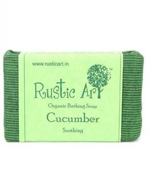 Cucumber Soap 100 Gms - Rustic Art