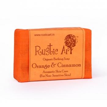 Orange & Cinnamon Soap 100 Gms - Rustic Art