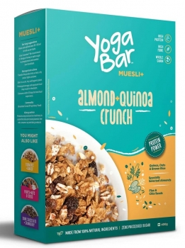 Muesli Almond Quinoa 400 Gms - Yoga Bar