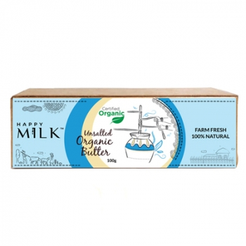 Unsalted Organic Butter 100 Gms - Happy Milk