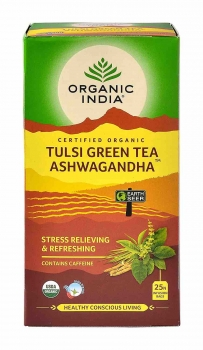Green Tea Ashwagandha 25 Bags - Organic India