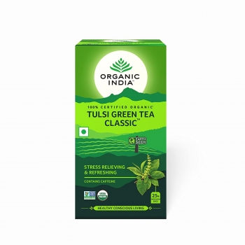 Tulsi Green Tea Classic 10 Bags - Organic India