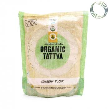Soya Flour 500 Gms - Organic Tattva
