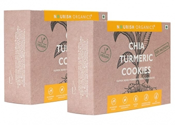 Chia Turmeric Cookies 110 Gms - Nourish