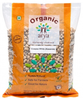 Cowpea White Whole 500 Gms-Arya