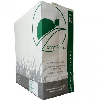 Garbage Bin 60 Pack-Green Bug
