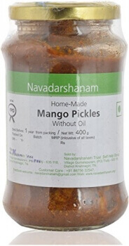 Mango Pickle Without Oil 400 Gms-Navadarshanam