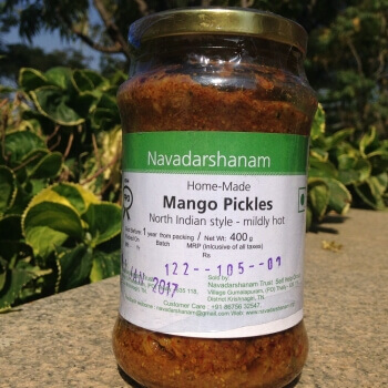 Mango North Indian Pickle 400 Gms-Navadarshanam