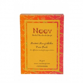 Masoor Manjishtha Face Pack  50 Gms-Neev Herbal