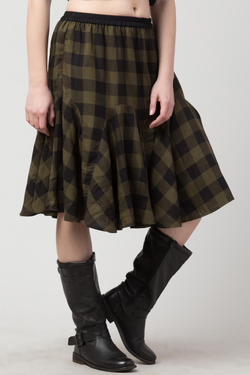 Check Short Skirts
