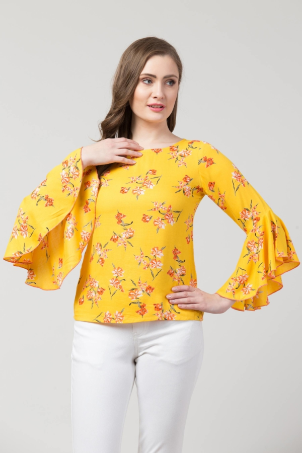 yellow tops party wear