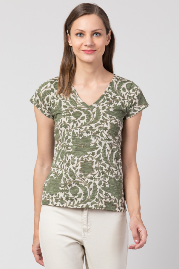 green floral tshirt for women