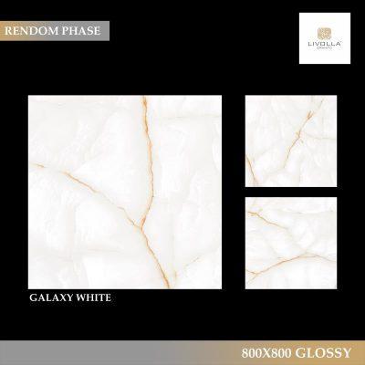 800x800 Glossy GALAXY WHITE
