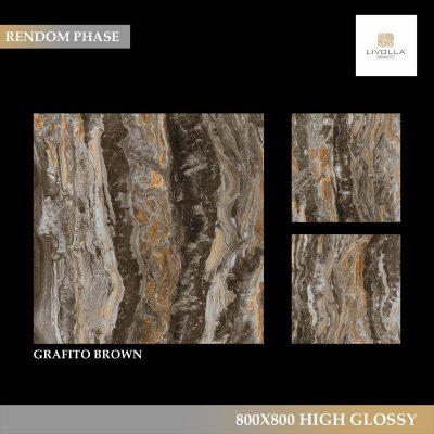 800x800 High Glossy GRAFITO BROWN