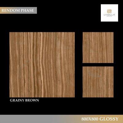 800x800 Glossy GRAINY BROWN
