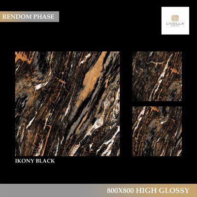 800x800 High Glossy IKONY BLACK
