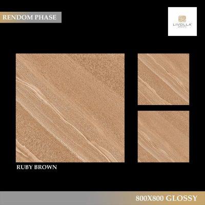 800x800 Glossy RUBY BROWN
