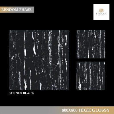 800x800 High Glossy STONEX BLACK