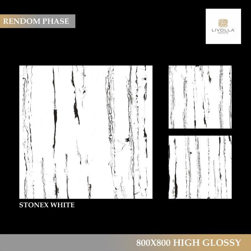 800x800 High Glossy STONEX WHITE