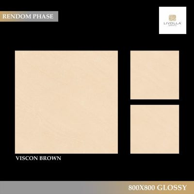 800x800 Glossy VISCON BROWN