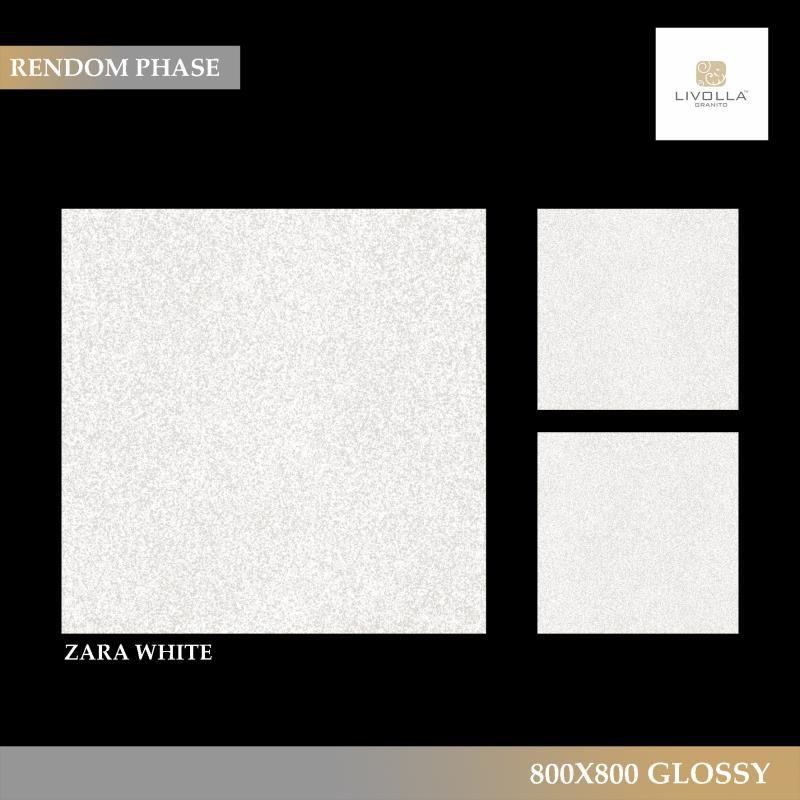 800x800 Glossy ZARA WHITE