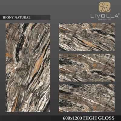 IKONY NATURAL - 600x1200(60x120) HIGH GLOSSY PORCELAIN TILE