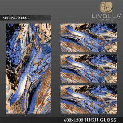 MARPOLO BLUE - 600x1200(60x120) HIGH GLOSSY PORCELAIN TILE