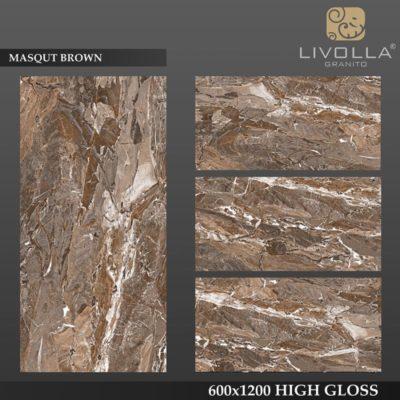 MASQUT BROWN - 600x1200(60x120) HIGH GLOSSY PORCELAIN TILE