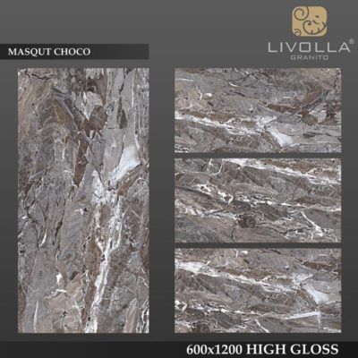 MASQUT CHOCO - 600x1200(60x120) HIGH GLOSSY PORCELAIN TILE