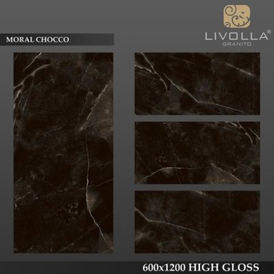 MORAL CHOCCO - 600x1200(60x120) HIGH GLOSSY PORCELAIN TILE