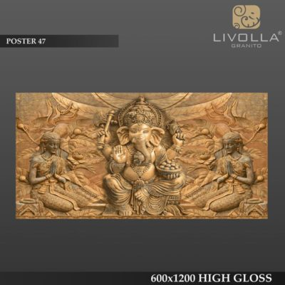 POSTER 47 - 600x1200(60x120) HIGH GLOSSY PORCELAIN TILE