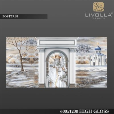 POSTER 55 - 600x1200(60x120) HIGH GLOSSY PORCELAIN TILE