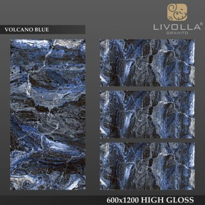 VOLCANO BLUE - 600x1200(60x120) HIGH GLOSSY PORCELAIN TILE