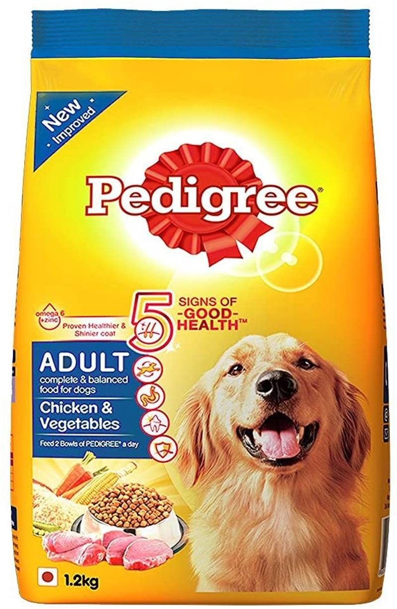 Pedigree - Adult Dog Food Chicken & Vegetables, 1.2kg