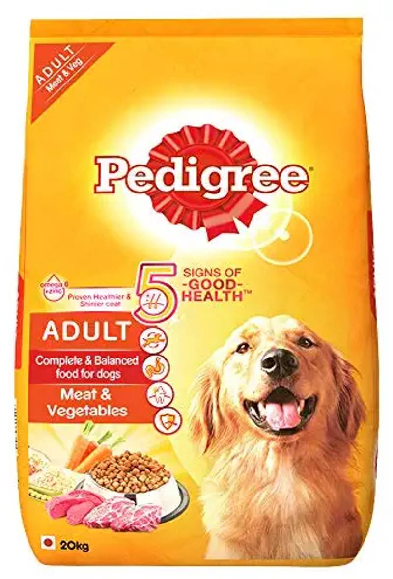 Pedigree - Adult Dry Dog Food, Meat & Vegetables, 20kg