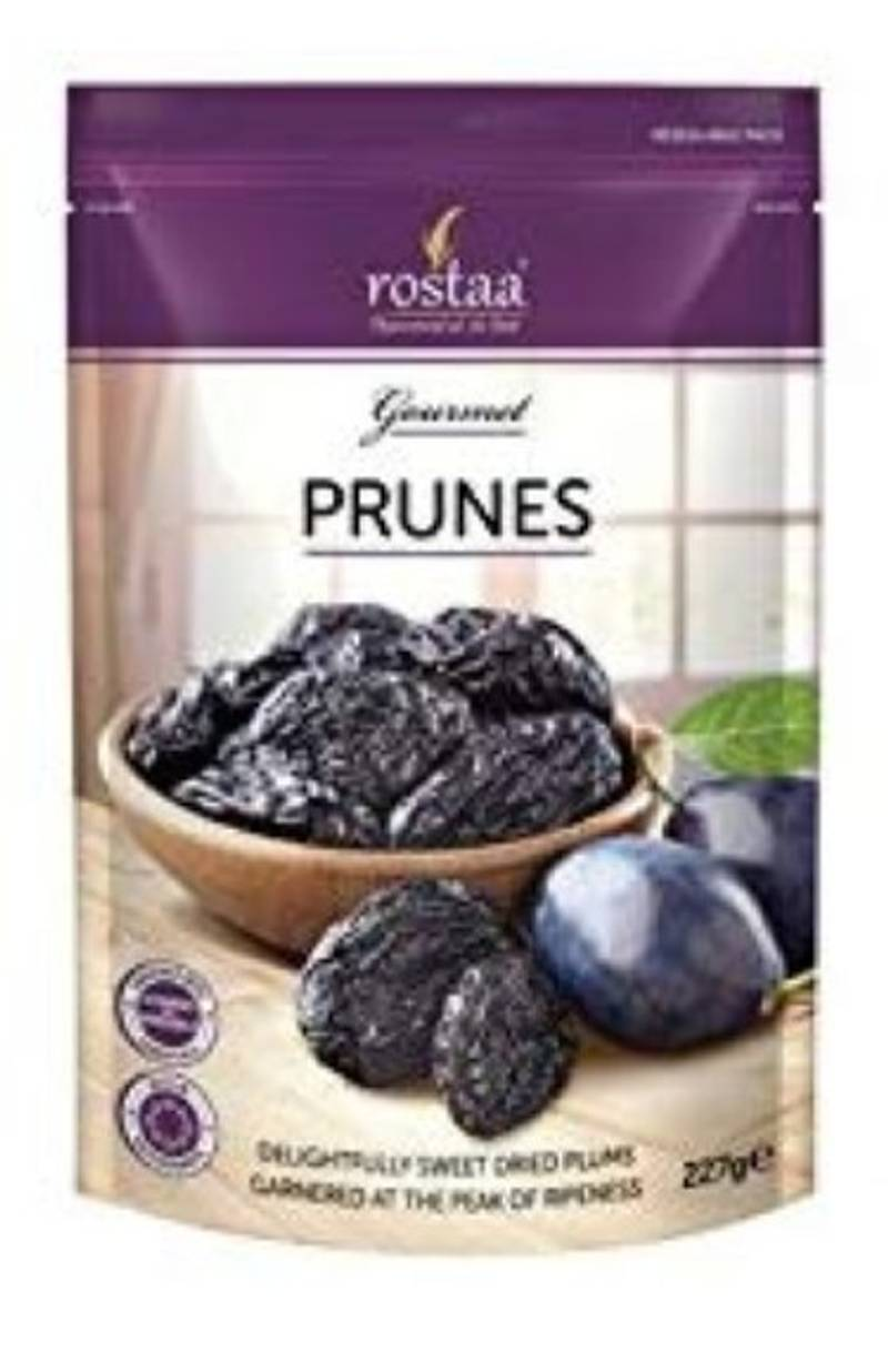 Rostaa - Prunes Pitted Dried Plumps Pouch, 227gm