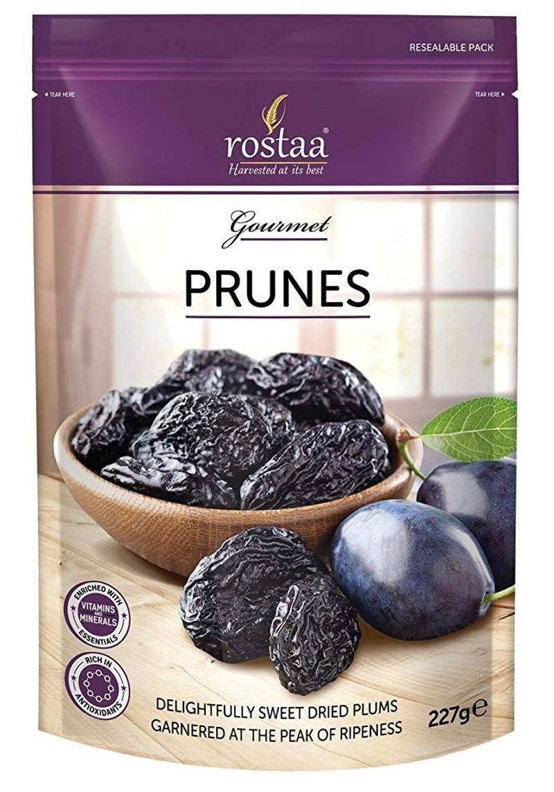 Rostaa Prunes Pitted Dried Plumps Pouch,227gm