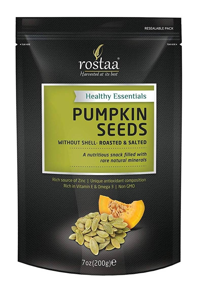 Rostaa Pumpkin Seeds Without Shell Roasted Salted Pouch, 200 gm