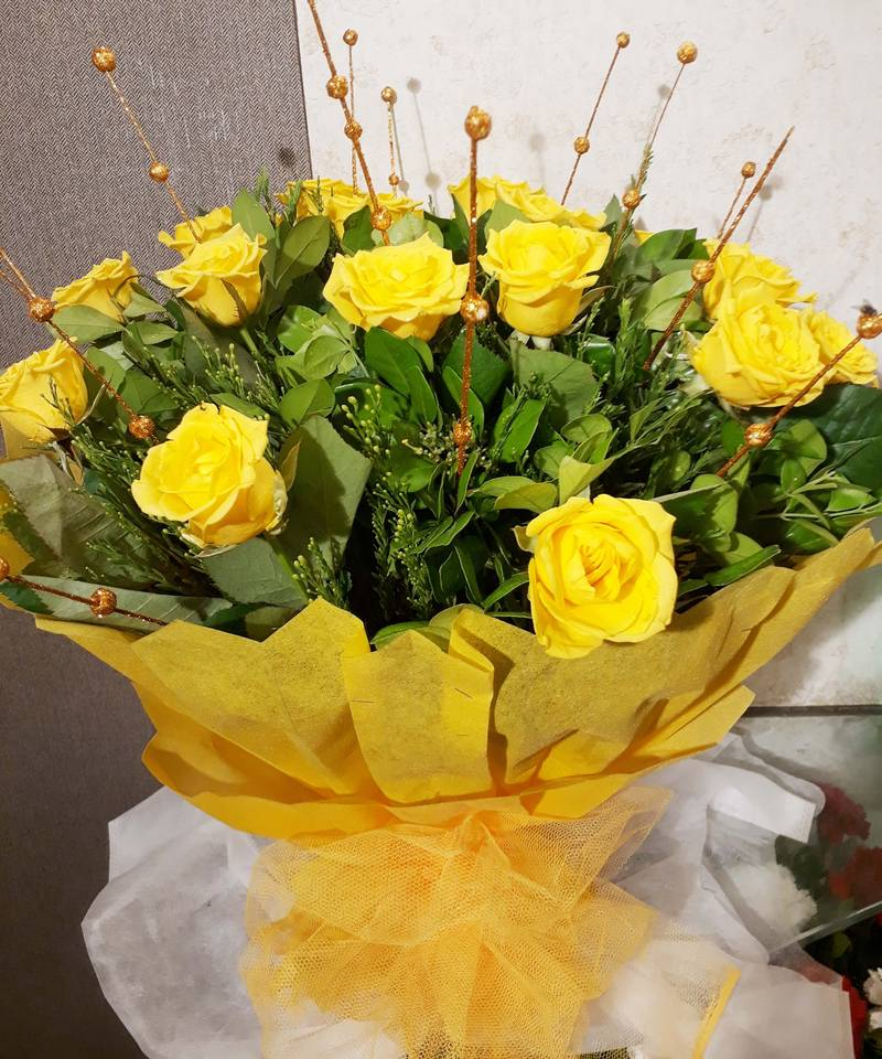 Yellow Roses Bunch Bouquet