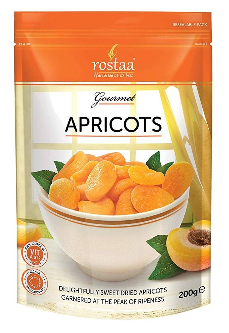 Rostaa Apricots Delightfully Sweet, 200gm