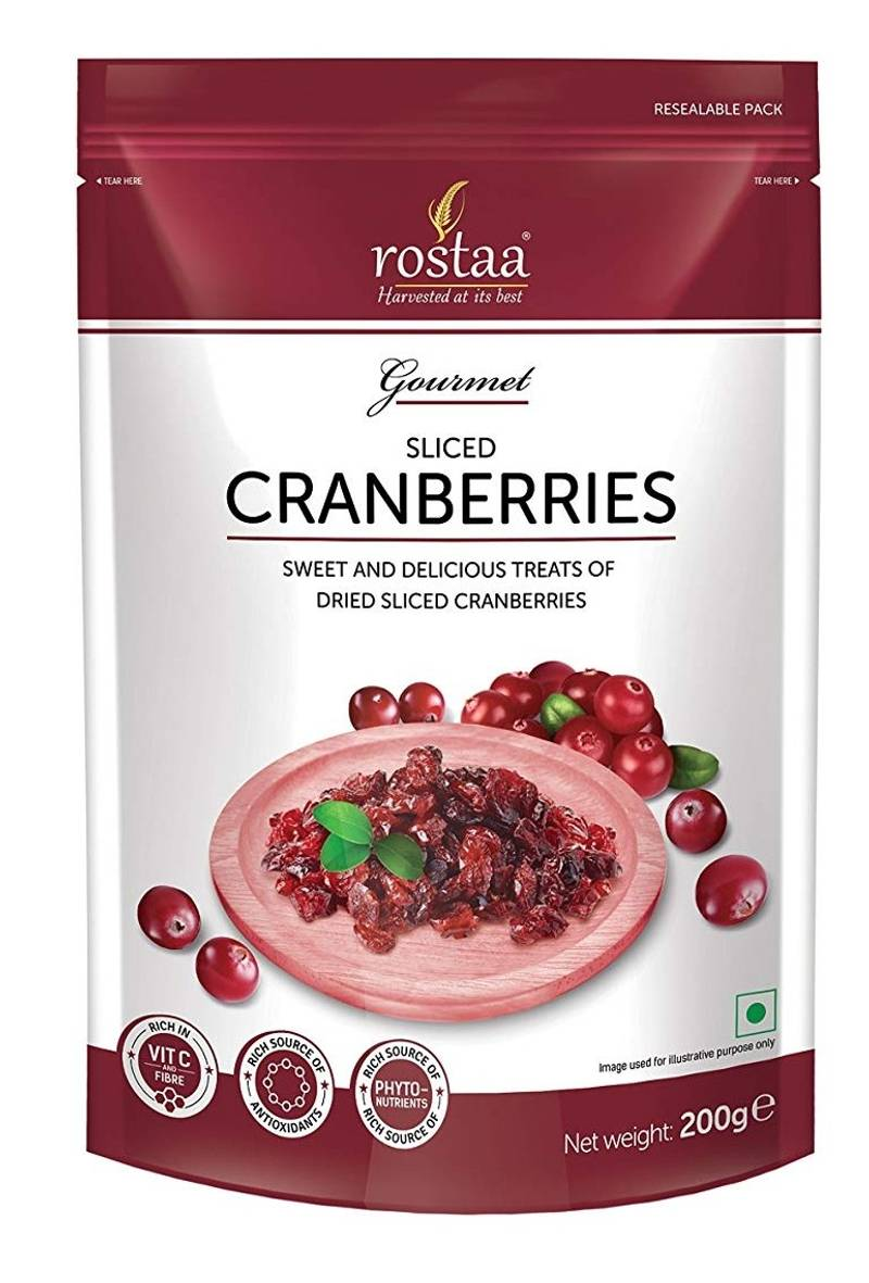 Rostaa Sliced Cranberry (200gm)