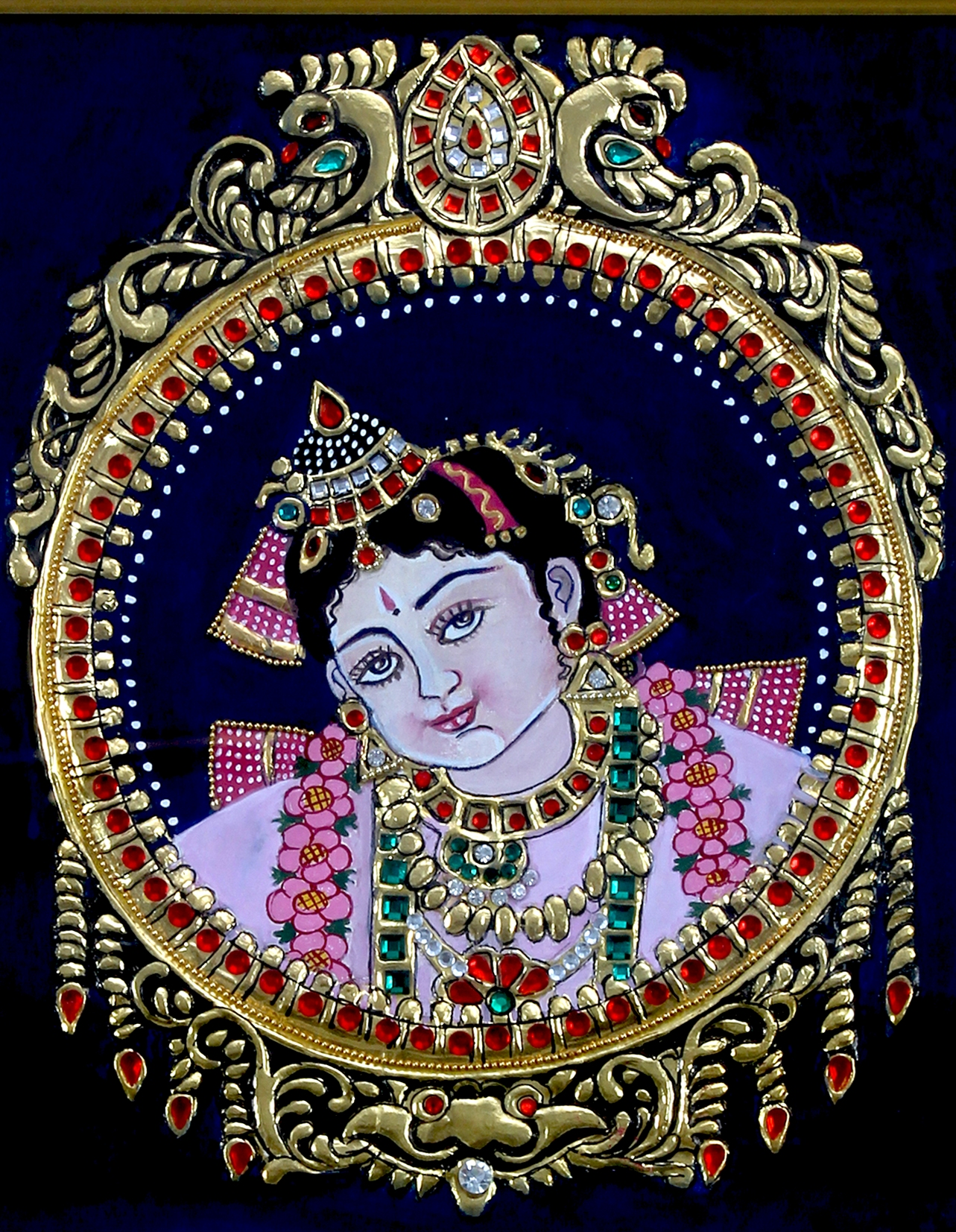 Tanjore Painting of Gopal ji Face