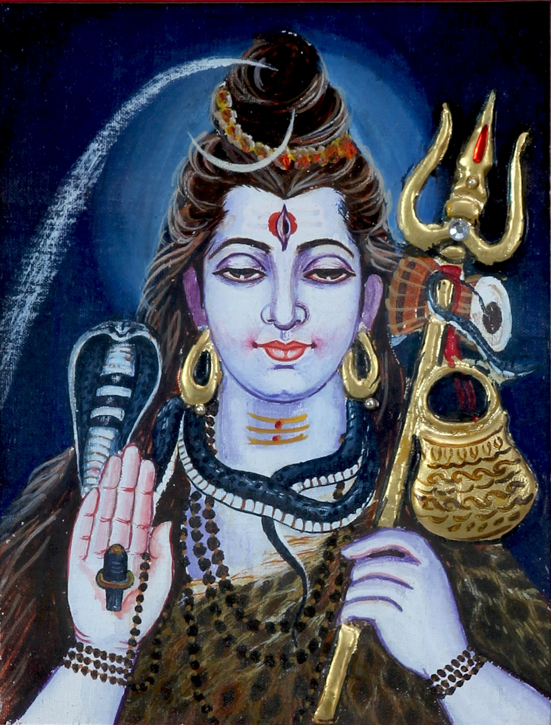 Tanjore Painting of Lord Shiva
