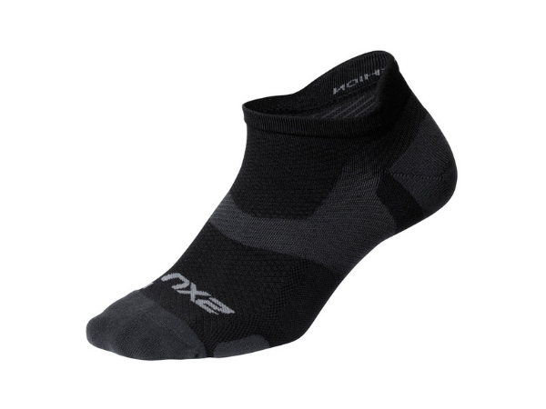 2XU Vectr Light Cushion No Show Sock - Black/Titanium