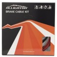 Alligator Brake Inner Cable and Housing Red