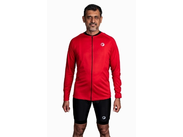 Apace Peleton Mens Cycling Jersey - Full Sleeves - Red
