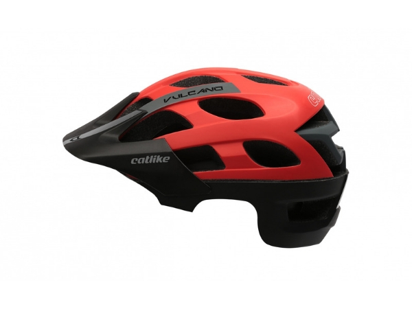 Catlike Vulcano MTB Helmet - Black/Red
